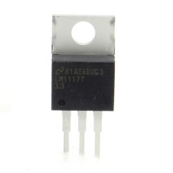 LM1117T 3.3V 800mA - Regulateur tension LDO - TO-220 - NS - 210IC033