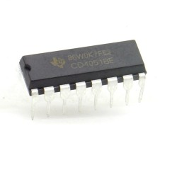 Circuit intégré CD4051BE decodeur - encodeur DIP16 - Texas 211ic066