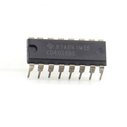 Circuit intégré CD4028BE BCD to Decimal Decoder DIP16 Texas 212ic074
