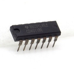 Circuit intégré CD4011BE CMOS Nan gate DIP14 Texas 212ic079