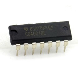 Circuit intégré CD4001BE CMOS Nor Gate DIP-14 Texas 213ic090
