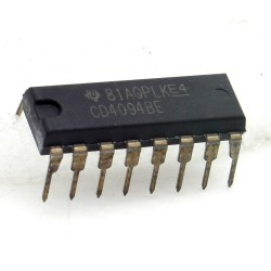 Circuit Intégré CD4094BE 8-Stage Bus Register DIP-16 Texas 214ic095