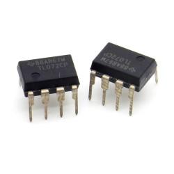 Circuit intégré TL072CP Low Noise J-fet Op-Amp DIP-8 - Texas