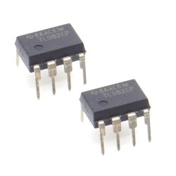 2x Circuit TL082CP J-fet Dual Op-Amp DIP-8 - Texas - 215ic116