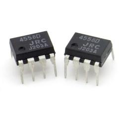 2x Circuit NJM4558 4558 Double Op-Amp DIP-8 - JRC - 216ic120