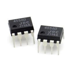 2x Circuit NLM4558D 4558D Dual Op-Amp DIP-8 - JRC - 216ic123