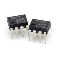 2x Circuit NJM4558D 4558D Dual Op-Amp Wide Band DIP-8 - JRC - 216ic127
