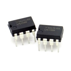 2x Circuit Intégré LM1458N Dual Op-Amp DIP-8 - National - 217ic136