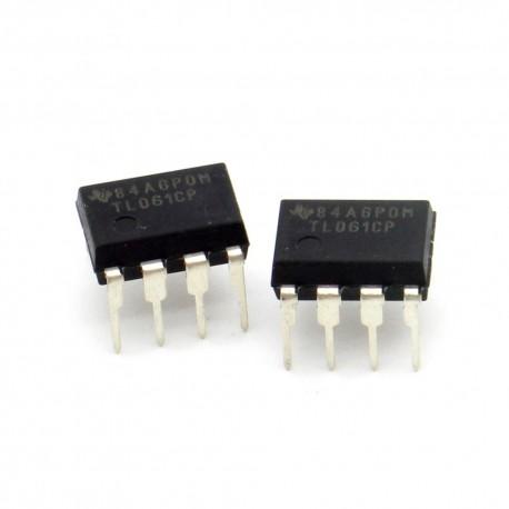 2x Circuit TL061CP J-Fet Op-Amp DIP-8 - Texas instruments