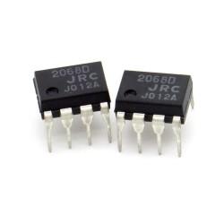 2x Circuit NJM2068D Dual Op-Amp Bipolaire DIP-8 - JRC - 217ic140