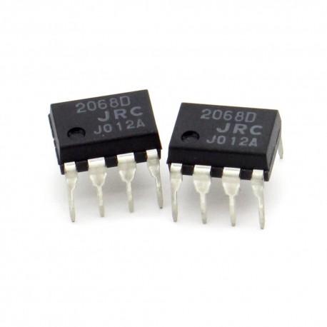 2x Circuit NJM2068D Dual Op-Amp Bipolaire DIP-8 - JRC