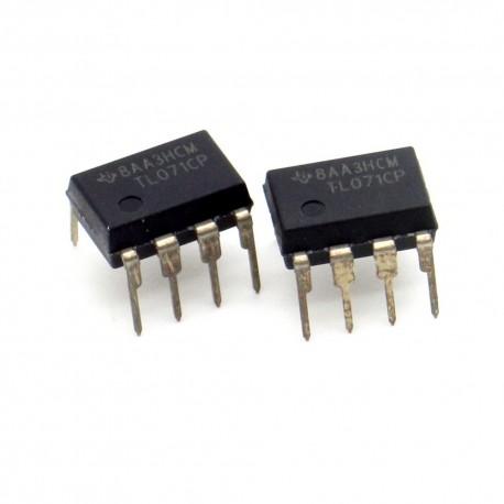 2x Circuit TL071CP J-Fet Op-Amp DIP-8 - Texas instruments