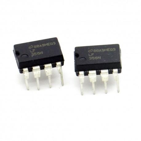 2x Circuit Intégré LF356N Op-Amp DIP-8 - National