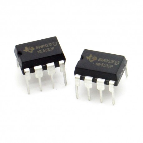 2x Circuit NE5532P Dual Low Noise Op-Amp DIP-8 - Texas instruments