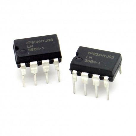 2x Circuit LM386N Dual low noise Op-Amp DIP-8 - National