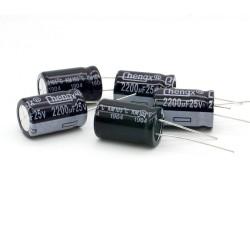 5x Condensateur chimique 2200uF 25V 13x20mm - 56con141