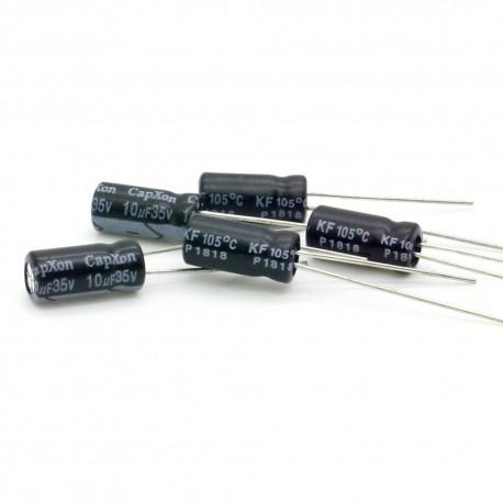 5x Condensateur electrolitique radial 10uF 35V 5x11mm
