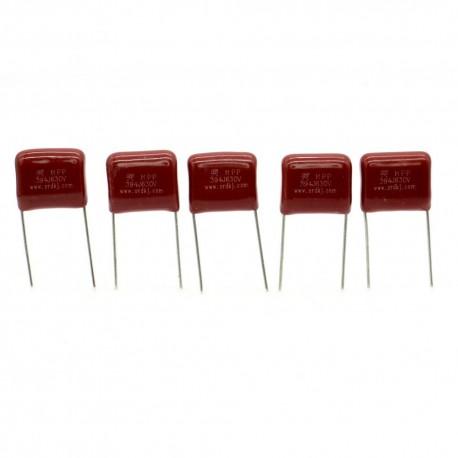 5x Condensateur CBB21 394J 390nf 630v P:15mm