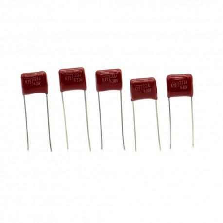 5x Condensateur CBB21 223J 22nf 630v P:7.5mm KYET
