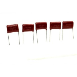 5x Condensateur CBB21 224J 220nf 630v P:15mm Dersonic 222con473