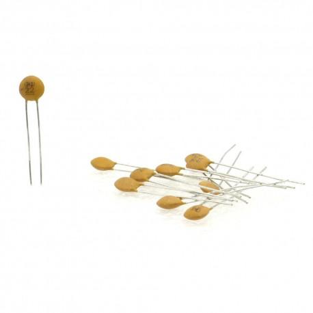 10x Condensateur Céramique Disque 22 - 22pf - 50v - Dersonic