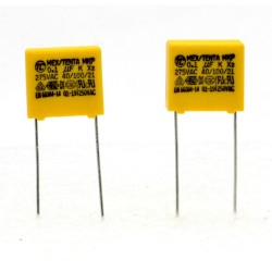 2x Condensateurs MKP MEX-X2 100nf 0.1uF P:10mm 275V - Tenta - 226con492