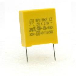 Condensateurs MPX MPK X2 155K 1.5uf P:15mm 275V - 224con482