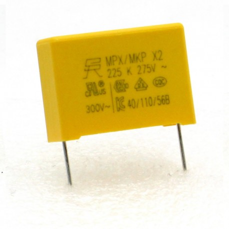 Condensateurs MPX MPK X2 225K 2.2uf P:22.5mm 275V