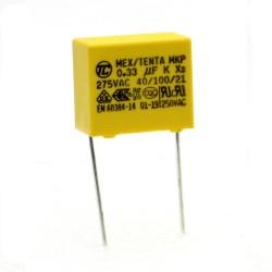 Condensateurs MKP MEX-X2 330nf 0.33uF P:15mm 275V - Tenta - 226con493