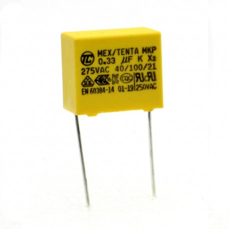 Condensateurs MKP MEX-X2 330nf 0.33uF P:15mm 275V - Tenta