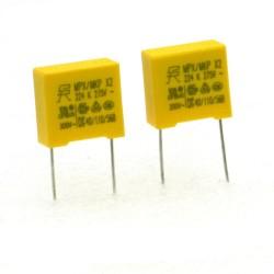 2x Condensateurs MPX MPK X2 224K 220nf P:10mm 275V - SRD - 228con498