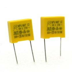 2x Condensateurs MPX MPK X2 104K 100nf P:10mm 275V - SRD - 228con499