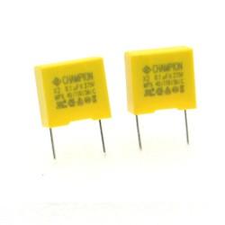 2x Condensateurs MPX X2 104K 100nf P:10mm 275V - Champion 228con500