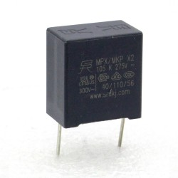 Condensateur MPX MPK X2 105K 1uf P:15mm 275V - 225con485