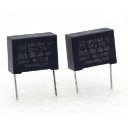 2x Condensateur MPX MPK X2 334K 330nf P:15mm 275V - SRD - 225con487