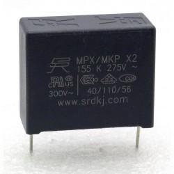Condensateur MPX MPK X2 155K 1.5uf P:27.5mm 275V - 227con503
