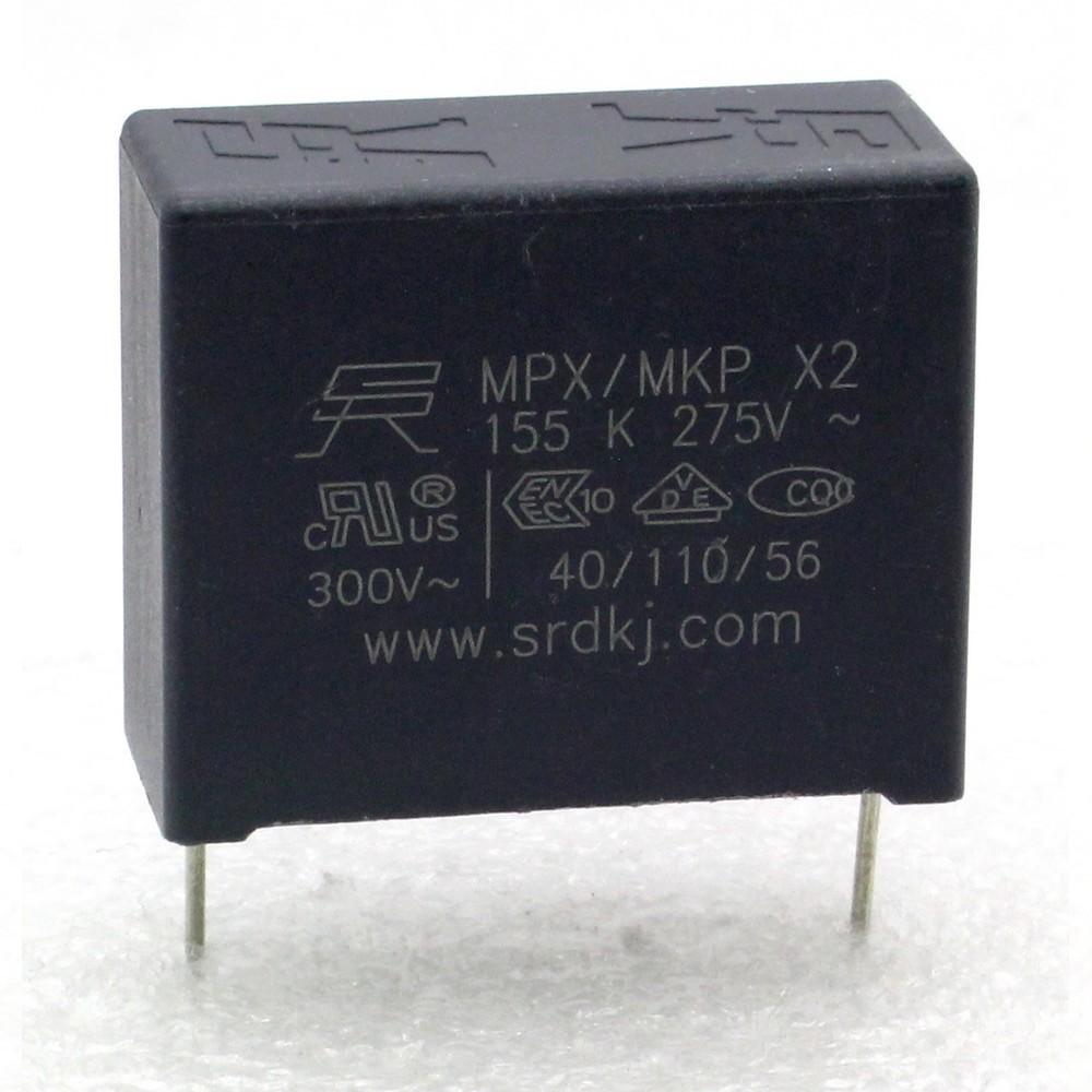 Condensateur MPX MPK X2 155K 1.5uf P:27.5mm 275V 227con503