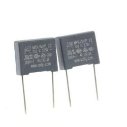 2x Condensateurs MPX MPK X2 103K 10nf P:10mm 275V - SRD - 229con504