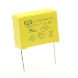 Condensateurs MPX-X2 155K 1.5uf P:22.5mm 275V - Songtian - 229con506