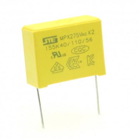 Condensateurs MPX-X2 155K 1.5uf P:22.5mm 275V - Songtian