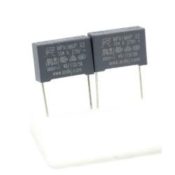 2x Condensateurs MPX MPK X2 104K 100nf P:15mm 275V - 229con507