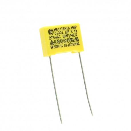 Condensateurs MEX-X2 102K 1nf 0.011uF P:10mm 275V - Tenta