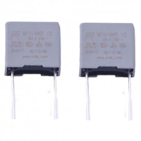 2x Condensateurs MPX MPK X2 224K 220nf P:10mm 275V
