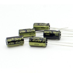 5x Condensateur 47uF 50V 6x11mm - Chengxing - 230con511
