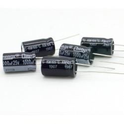 5x Condensateur 1000uF 25V 10x17mm - Chengxing - 233con514