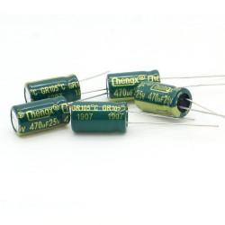 5x Condensateur 470uf 25v 8x14mm - P 3.5mm - Chengxing - 233con519