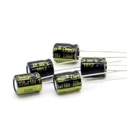 5x Condensateur 220uF 16V 6.3x7mm - Pas: 2.5mm - Chengxing - 234con526