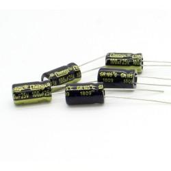 5x Condensateur 100uF 25V 6.3x11mm - pas: 2.5mm - Chengxing - 234con527