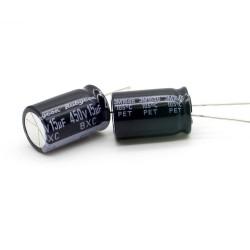 2x Condensateur 15uF 450V 12.5x20mm - Rubycon - 235con529