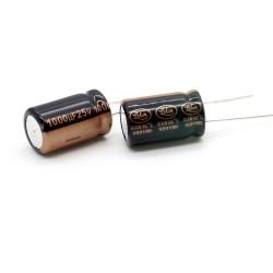 2x Condensateur 1000uF 25V 12.5x20mm - LELON - 235con532